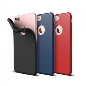 iPhone-7-8-Huelle-Schutzhuelle-Silikon-Slim-Case-Cover-Schwarz-Blau-Rot