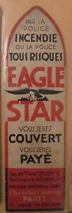 Antique-Brand-Pages-Bookmark-Advertising-Company-Insurance-Eagle-Star-Fire