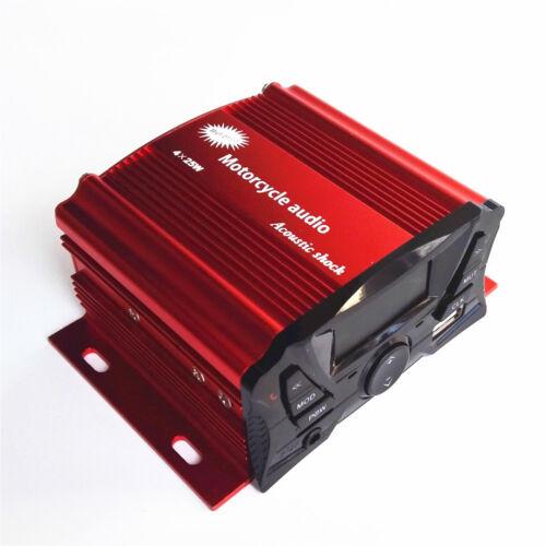 4 Ch 3/' UTV//ATV//Snowmobile//Marine Amplified Speaker System Bluetooth Anti-theft