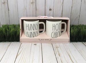 NEW Rae Dunn Set Easter Spring Hunny Bunny And Hot Chick Mugs