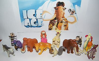 Ice Age Collision Course MINI Figures Lot of 4  Scrat Manny Diego Sid PVC CAKE