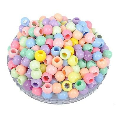 Random Mixed Round Acrylic Spacer Loose Big Hole Beads 10mm 12mm 14mm 18mm