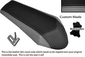 BLACK STITCH CUSTOM FITS DERBI GPR 50 125 SIDE EXHAUST 07-13  REAR SEAT COVER