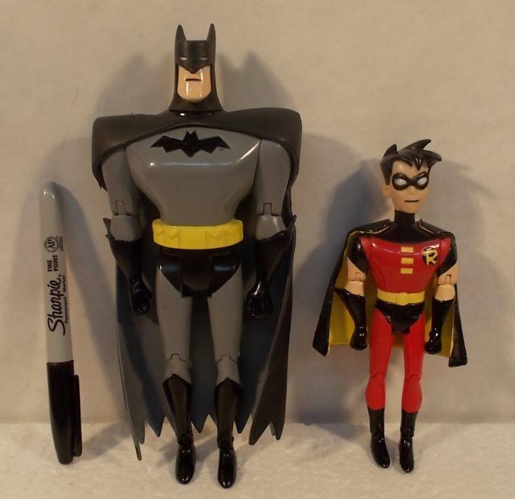 Batman Animated Jlu Dc rápida Europa comida rápida 8  Batman & 6  Robin Figura Serie
