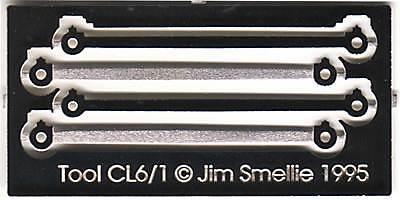 "7/'6/"" 4mm scale Locomotive Coupling Rods 8/'9/"" OO//EM//P4"