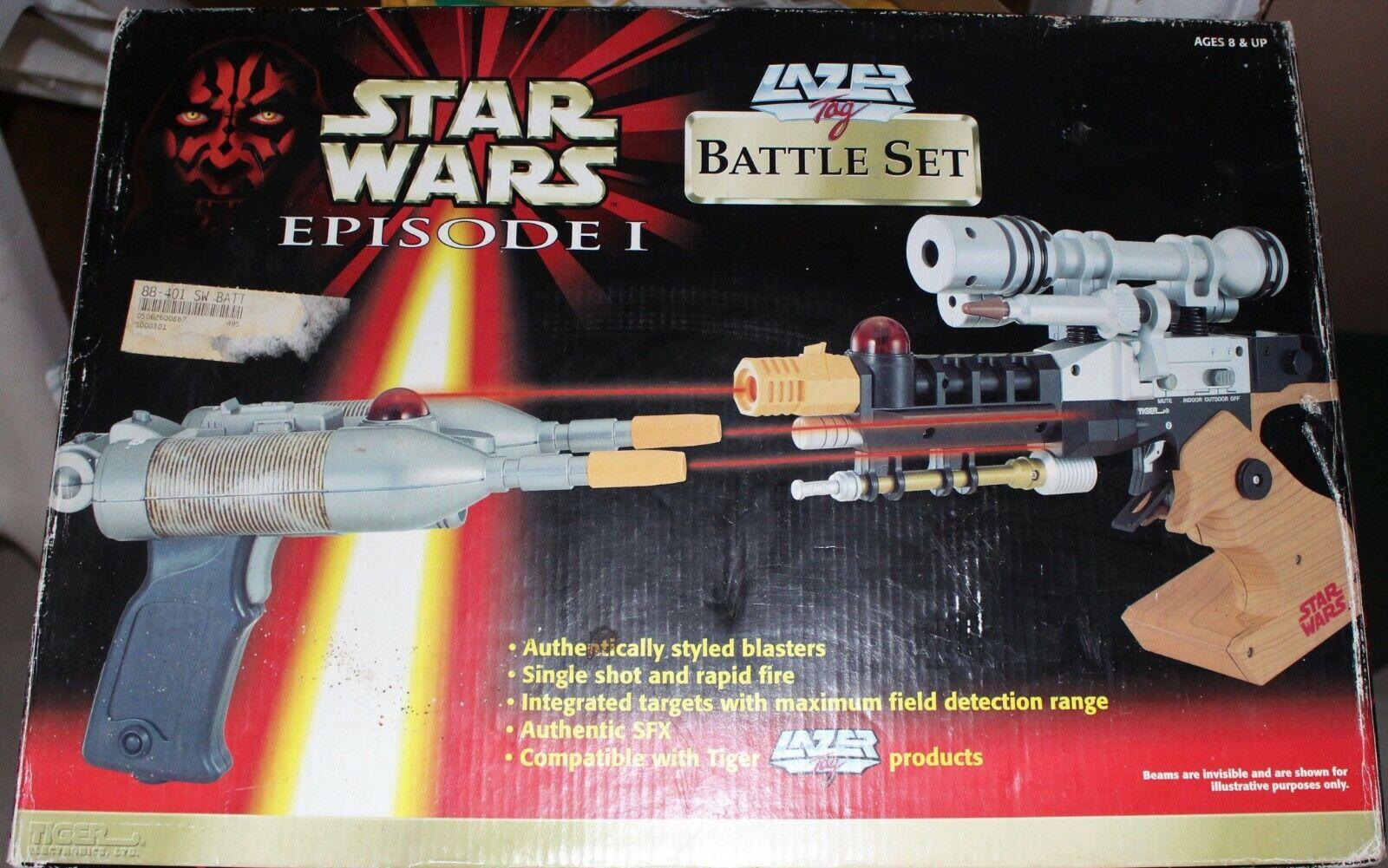 STAR WARS Episode 1 Lazer Tag Naboo Assault Set 2  Lasers 1999 Tiger Electronics  profiter de vos achats