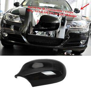 Side Wing Mirror Cover Cap Trim Fit For BMW E90 E91 3 Series 323i 328i 335d 335i