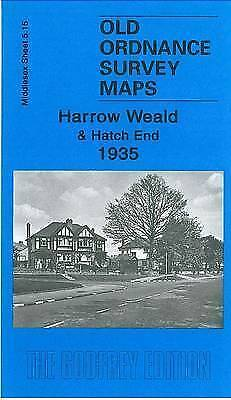 OLD ORDNANCE SURVEY MAP Harrow Weald and Hatch End 1935: Middlesex Sheet 05.15