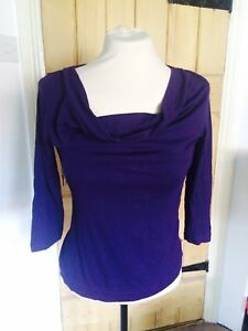 Two-H-amp-M-Purple-Tops-Size-S-M