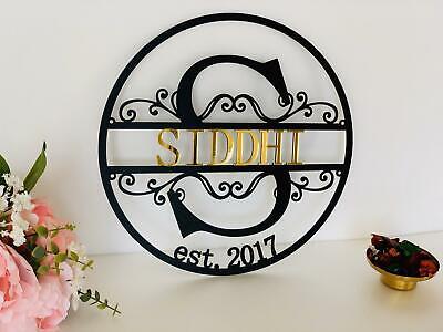 Personalized Metal Est Sign Custom Monogram Split Letter Last Name Wall Decor Ebay