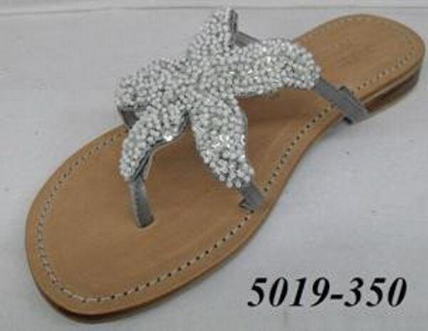 Kristen Kristen Kristen Klosot - paljetterad stjärnfisk Läder Sandal med icke -slipad tunga  populär
