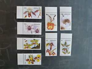 1997-GRENADA-ORCHIDS-SET-8-MINT-STAMPS-MNH