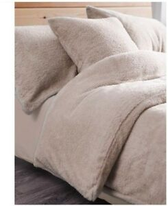 Luxury Teddy Fleece Duvet Covers Fluffy Warm Soft Bedding Set Beige Double Ebay