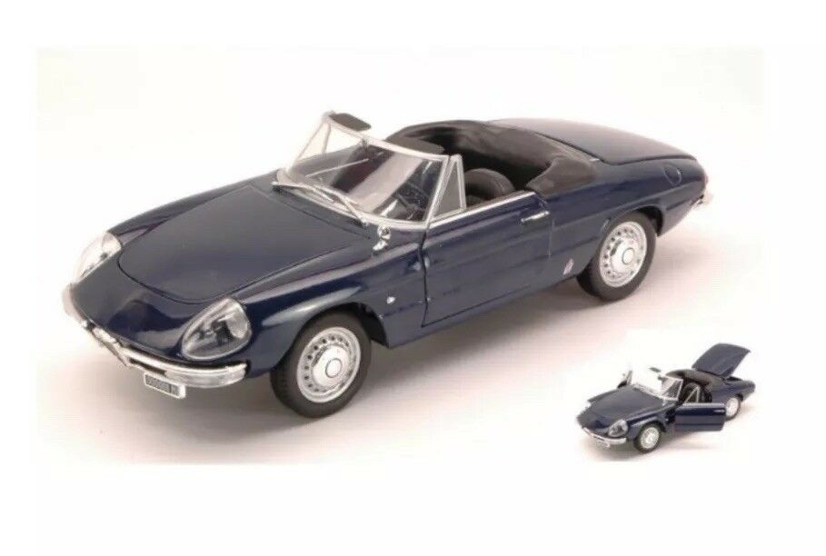 G LGB 1 24 Scale 1966 Alfa Romeo Spider Duetto 1600 Leo Whitebox Diecast Model