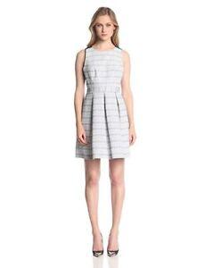 NWT-298-Trina-Turk-Sz-4-Black-White-Jacquard-Cecilia-Dress-Cutout-Lace-Back