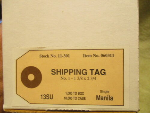 "100 Manila Shipping Tags with Reinforced Eye Size 1 1-3//8/"" x 2-3//4/"""