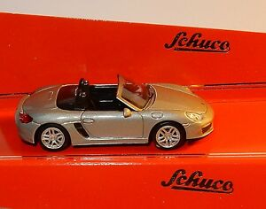 MICRO-METAL-DIE-CAST-SCHUCO-3-INCHES-1-64-PORSCHE-BOXSTER-S-981-GRISE-IN-BOX