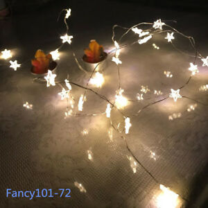 BATTERY Operated STAR Lights 30 LED Fairy String Indoor Party Home ...