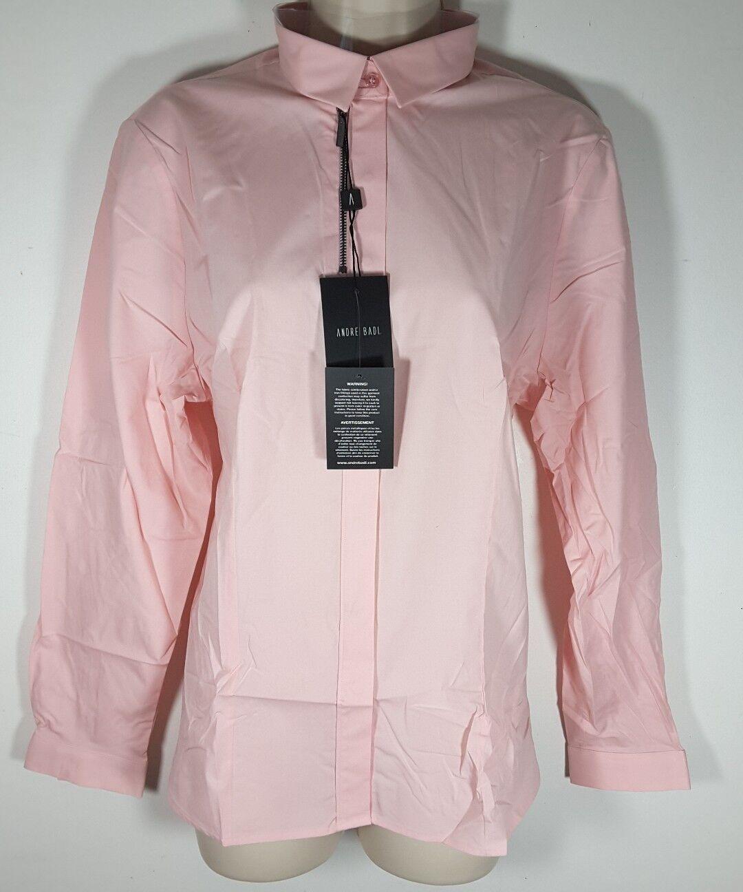 Andre Badi Camisas Rosa Loto Woherren Dress Shirt Rosa Multiple Größes