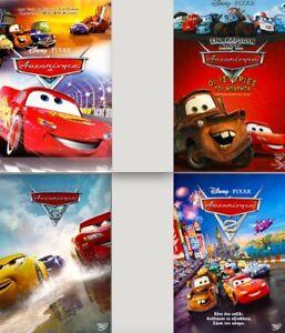 CARS 1 2 3 CARS TOON TALES / DISNEY 4x DVD English Greek REGION-2 New