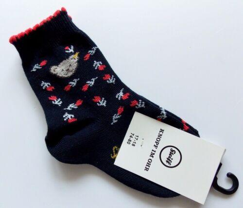 74-80 navy blau gemustert Steiff  Mädchen 2 Paar  Socken gr