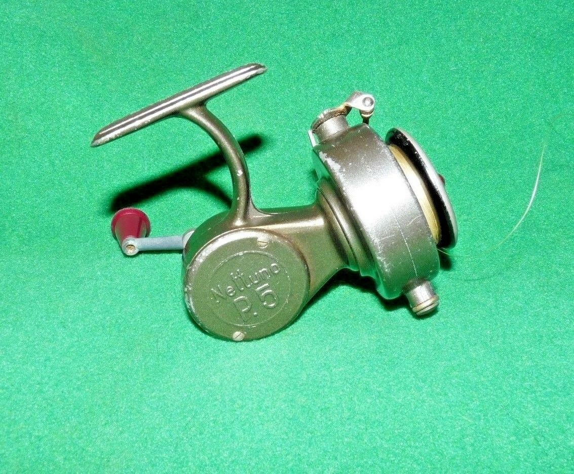 NETTUNO OF ITALY P.5 OPEN FACED SPINNING REEL , EXCELLENT COLLECTORS CONDITION