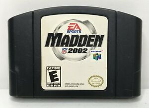 Nintendo-64-N64-Madden-NFL-2002-Video-Game-Cartridge-Authentic-Cleaned-Tested