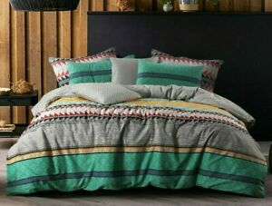 Single Double Queen King Size  Duvet Quilt Doona Cover Set Cotton Reversible