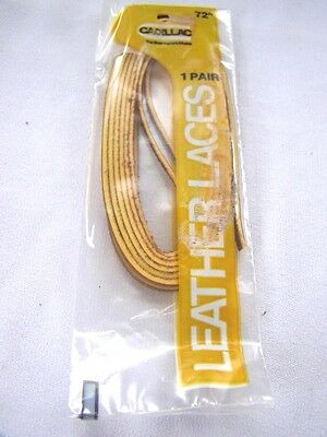 """New 1 Pair Cadillac Leather Shoe Boot Laces 1//8/"""" x 72/"""" Tan"""