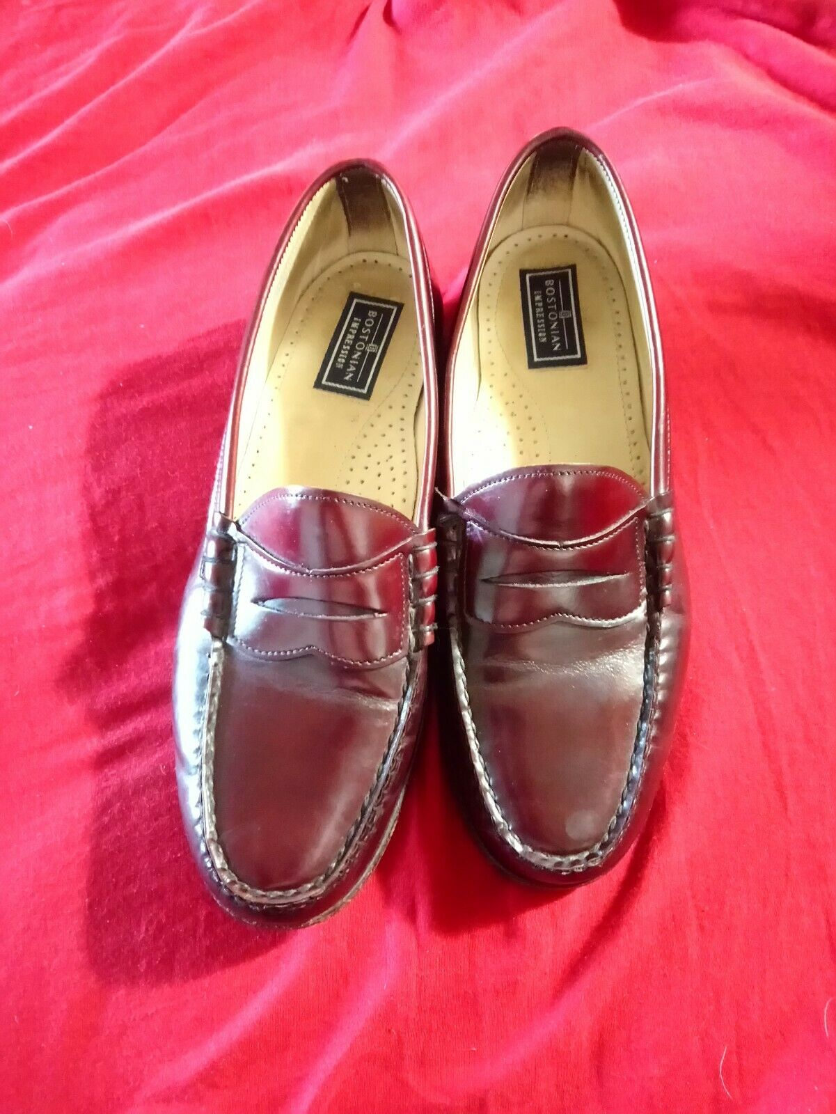 Men's Bostonian Impressions Penny Loafer 8 1 5 D B Leather Shell Cordovan color