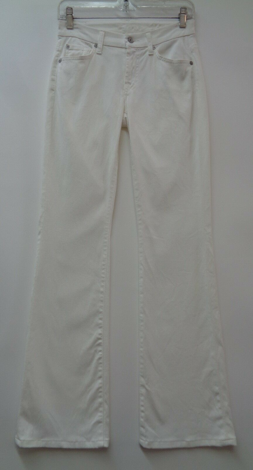 7 For All Mankind 24 White Denim Womens Jeans Pants Kimmie Boot Cut Stretch