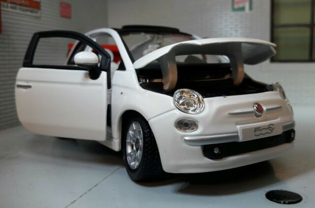 Lgb G Scale 1 24 Fiat 500 500c Cabriolet Cabrio Burago Diecast Model Car 22117
