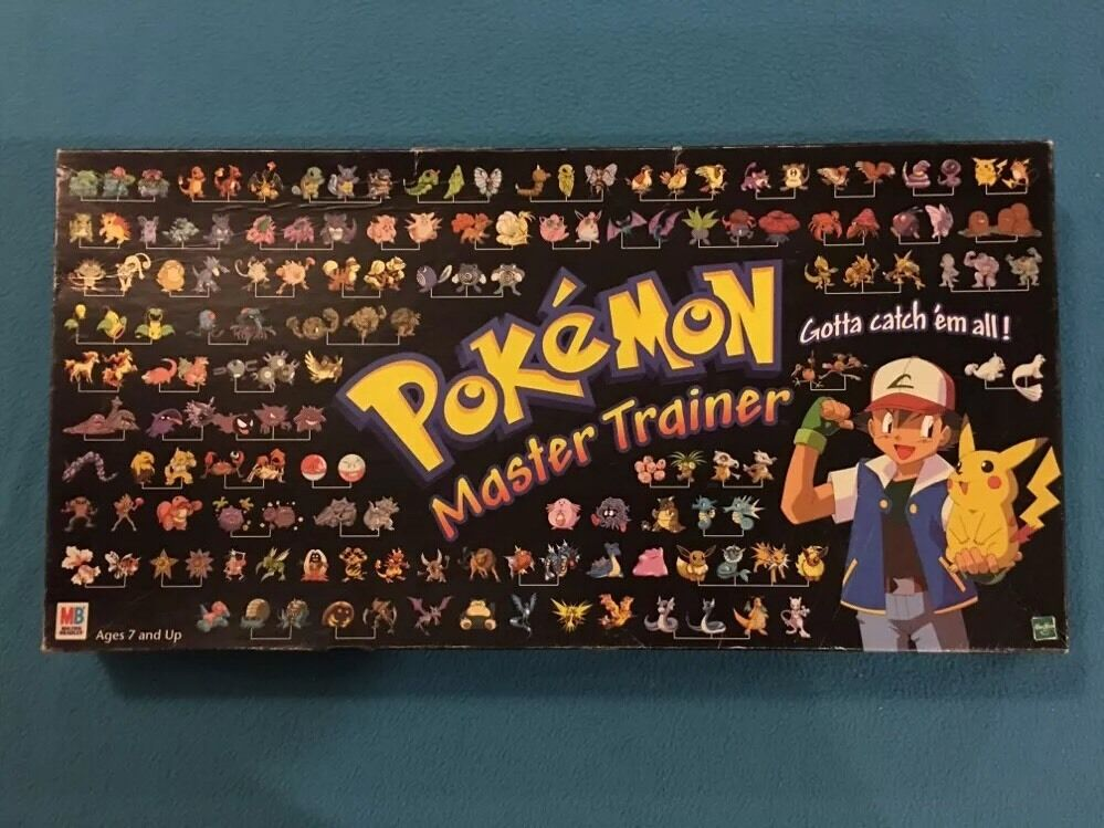 1999 Pokemon Master Trainer Board Game 100% Complete  Free Shipping  RARE