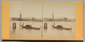 Venice Venezia Italia Stereo Vintage Albumina Ca 1865