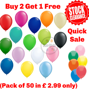 50-Ballons-Latex-Uni-et-Metallique-Anniversaire-Mariage-Helium-bestquality-ballon