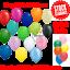 50-Ballons-Latex-Uni-et-Metallique-Anniversaire-Mariage-Helium-bestquality-ballon miniature 1