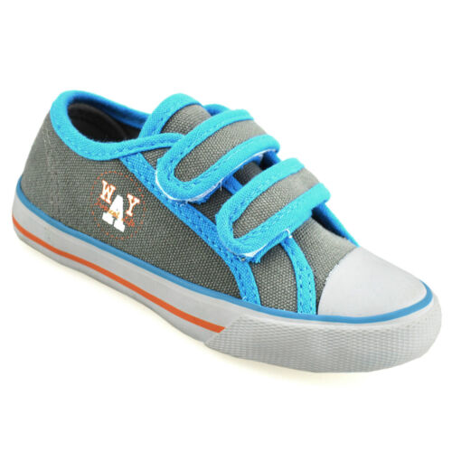 Boys Kids Childrens Infants New Casual Summer Canvas Pumps Trainers Shoes Size