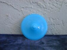 Akro Agate Small Interior Panel Teapot and Lid  Azure Blue