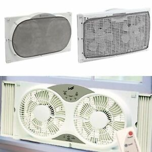 Window Fan With Remote Control Small Exhaust Portable Vent ...