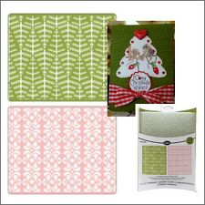 Sizzix embossing folders EVERGREEN & SNOW FLOWERS 657062 Cuttlebug Compatible