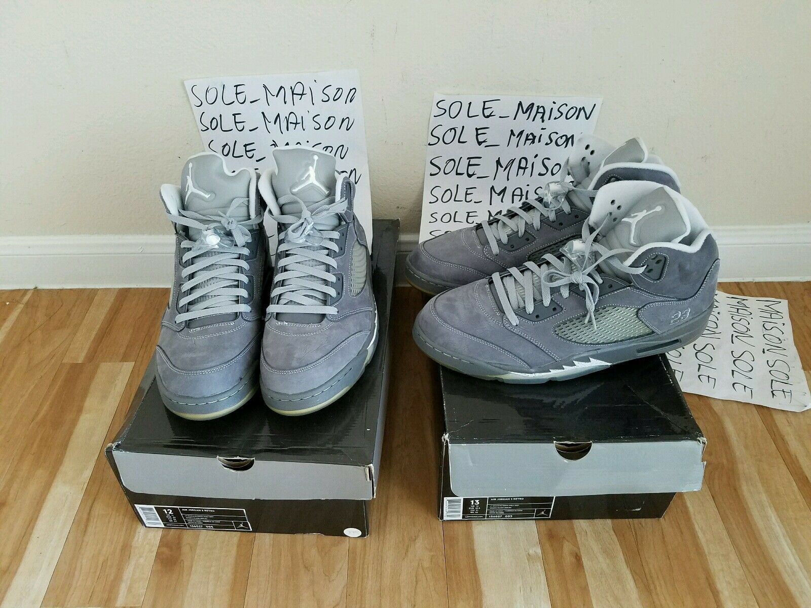 NIKE AIR JORDAN V RETRO 5 WOLF GREY 2018 136027-005 SIZE 10,12,13 DEADSTOCK Wild casual shoes