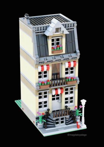 PDF MANUAL train city LEGO CUSTOM INSTRUCTIONS MODULAR MOC TOWNHOUSE MODEL B2