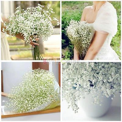 1/6/24 Baby's Breath Artificial Fake Silk Flower Plant Home Wedding Decor Warmly
