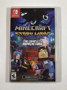 Minecraft Story Mode The Complete Adventure (Nintendo Switch) Fast Free Shipping