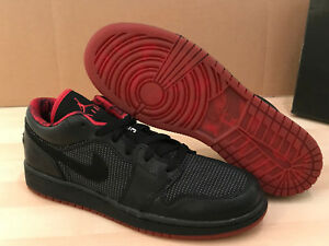 4178cd833b0241 Nike Air Jordan Retro 1 Low GS Black Metallic Silver Varsity Red ...