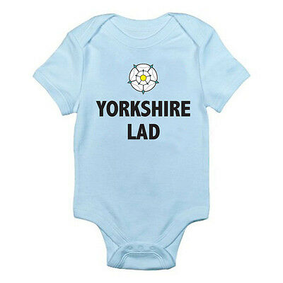 Novelty Son Fun Themed Baby Grow//Suit Boy Brother YORKSHIRE LAD Rose