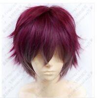 Diabolik lovers Sakamaki Ayato wine red mix short cosplay party wig