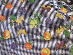 Black-amp-white-fruit-fabric-material-sewing-lightweight-lightly ...