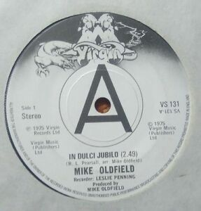 "Mike Oldfield ‎– In Dulci Jubilo 7"" UK promo VG - Italia - Mike Oldfield ‎– In Dulci Jubilo 7"" UK promo VG - Italia"