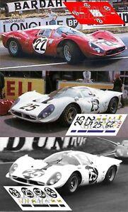 Bien Informé Calcas Ferrari 412p Le Mans 1967 Test Race 1:32 1:43 1:24 1:18 412 P Decals